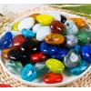 鹅卵石足底按摩足疗炫彩造景石地毯石头五彩雨花石鱼缸铺底玻璃石